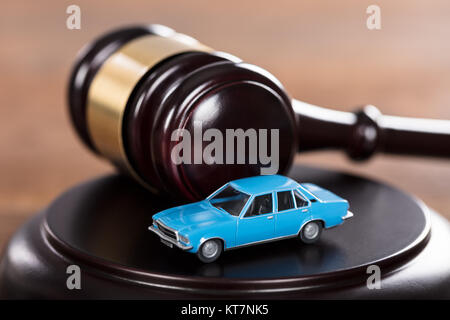 Car On The Mallet - Stock Photo