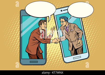 Online the talks of the two businessmen - Stock Photo