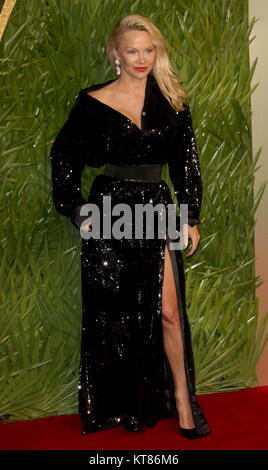 Dec 4, 2017 - Pamela Anderson attending The Fashion Awards 2017 at Royal Albert Hall in London, England, UK - Stock Photo