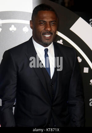 Dec 6, 2017 - Idris Elba attending 'Molly's Game' UK Premiere, Vue West End, Leicester Square in London, England, - Stock Photo