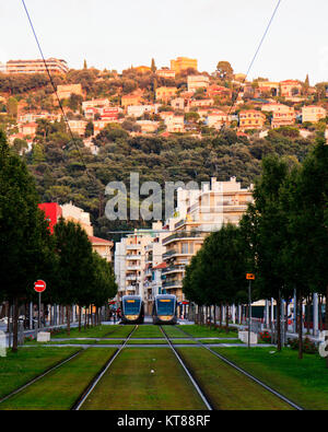 Trams in Nice - Stock Photo