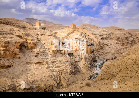 Holy Lavra of Saint Sabbas the Sanctified, known in Arabic as Mar Saba - Stock Photo