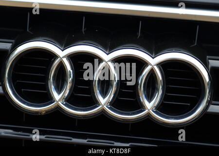 Company Logo Of The German Automotive Corporation Audi Ag Based In Stock Photo 52308160 Alamy