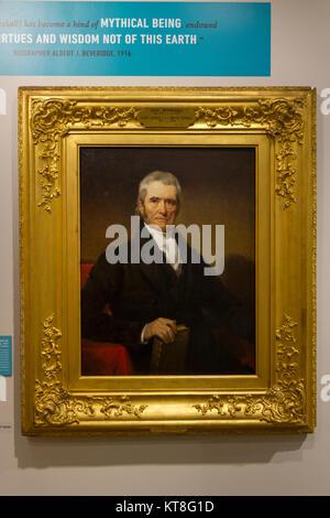 Portrait of John Marshall by Henry Inman (1931), National Constitution Center, Philadelphia, Pennsylvania, United - Stock Photo