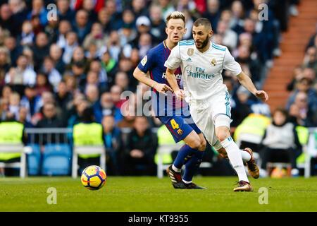 Barcelona, Spain. 23rd Dec, 2017. Karim Benzema of Real Madrid during the match. La Liga between Real Madrid vs - Stock Photo