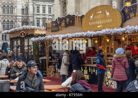 Budapest, Hungary. 23rd Dec, 2017. Christmas Fair at Basilica in Budapest Credit: Veronika Pfeiffer/Alamy Live News - Stock Photo