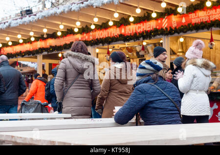 Budapest, Hungary. 23rd Dec, 2017.  Christmas Fair at Basilica in Budapest Credit: Veronika Pfeiffer/Alamy Live - Stock Photo