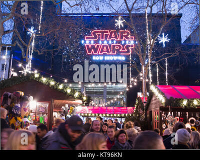 Westminster, London, 23rd December,2017  Leicester Square 'Christmas Market'  in London's West End where the new - Stock Photo