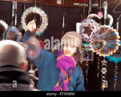 Westminster, London, 23rd December,2017  Leicester Square 'Christmas Market'  in London's West End Credit: Motofoto/Alamy - Stock Photo