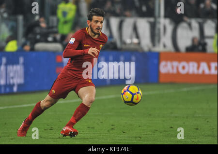 Turin, Italy. 23rd Dec, 2017. Alessandro Florenzi (A.S. Roma) during the Serie A football match between Juventus - Stock Photo