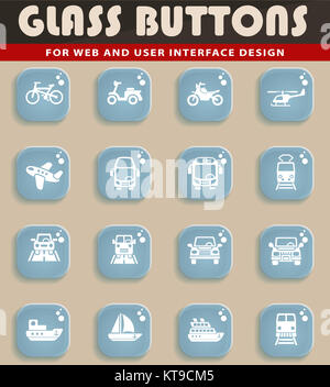 transport icon set - Stock Photo