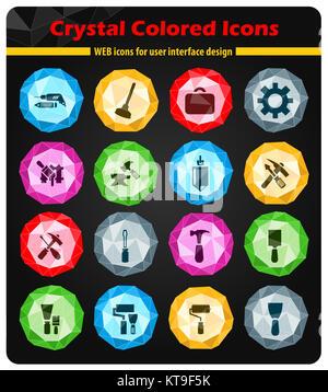 Work tools icons set - Stock Photo