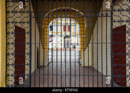 Closed Gate in Mompox, Colombia - Stock Photo