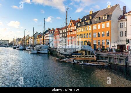 Copenhagen Nyhavn Denmark - Stock Photo