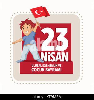 Vector illustration of the 23 Nisan Cocuk Bayrami - Stock Photo