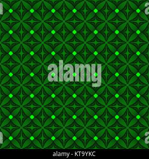 Abstract knitted green pattern from squares and lines - Stock Photo