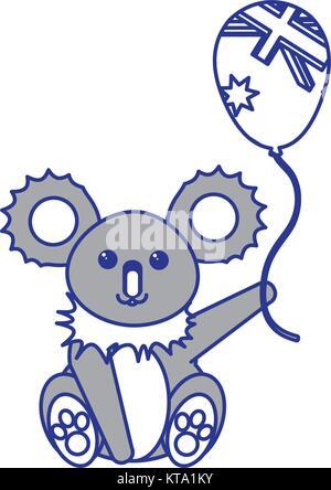 Australian koala design - Stock Photo