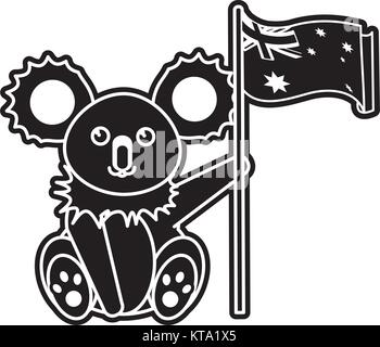 Australian koala design - Stock Photo