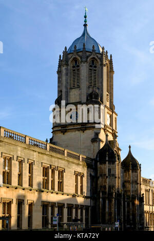 Around the University City of Oxford December 2017 Christ Church college - Stock Photo