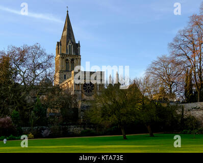 Around the University City of Oxford December 2017 Christ church - Stock Photo