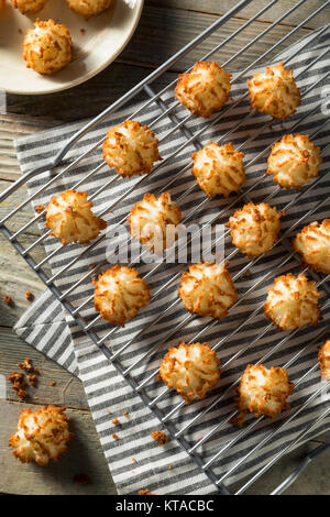Homemade Baked Coconut Macaroons Ready to Eat - Stock Photo