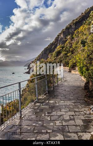 Cinque Terre - road of love - Stock Photo