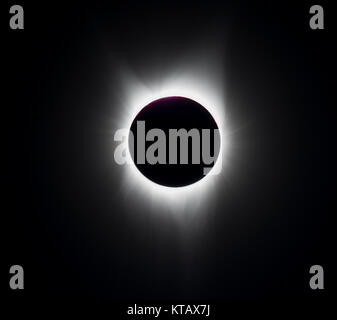 Full Solar Eclipse Photographed in Oregon State, USA in August of 2017 - Stock Photo