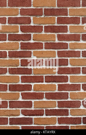 new and clean brown brick wall background - Stock Photo