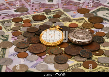 The concept of business time is money - Stock Photo