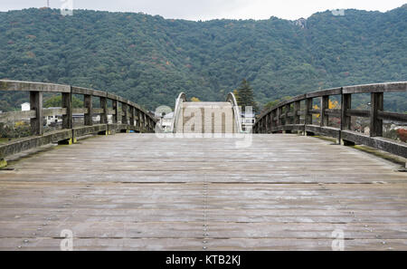 Kintai-kyo bridge in Iwakuni, Japan - Stock Photo