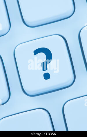 computer keyboard question mark help icon - Stock Photo