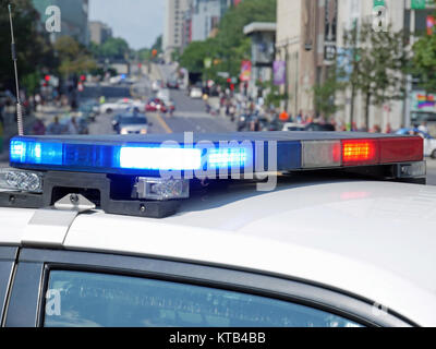 Police car in Montreal, Quebec, Canada - Stock Photo