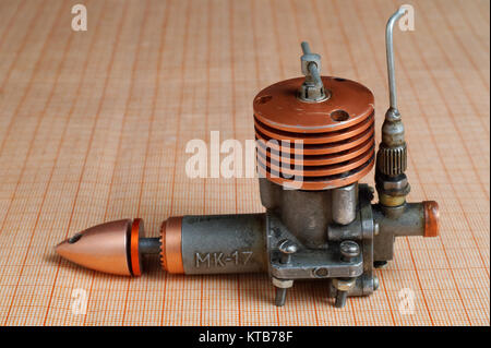 nitro miniature engine for radio controlled models - Stock Photo
