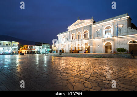 Iquique, Tarapaca Region, Chile - The Municipal Theatre of Iquique, a traditional building built in 1889 at downtown, - Stock Photo