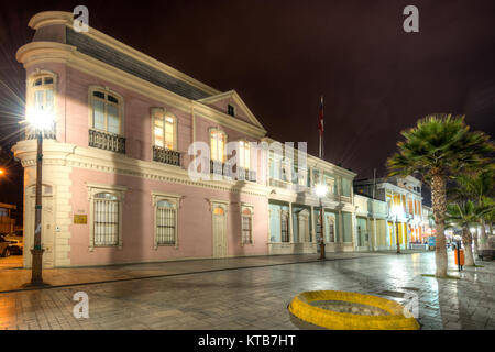 Iquique, Tarapaca Region, Chile - Old houses from XIX century in the main street of Iquique at downtown known as - Stock Photo
