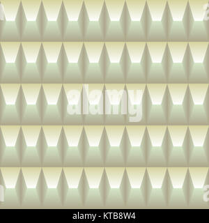 Pastel colored geometric pattern seamless in the pyramid shape three dimensional. Light background - Stock Photo
