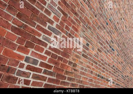 Brick Wall Perspective - Stock Photo