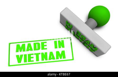 Made in Vietnam Stamp - Stock Photo