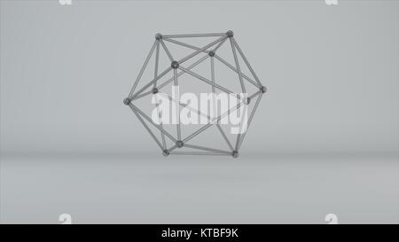 glass model of molecular lattice - Stock Photo