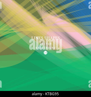 Colorful abstract vector background, green, pink transparent wav - Stock Photo
