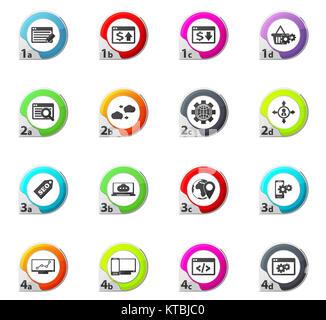 Set of SEO and Development icons set - Stock Photo