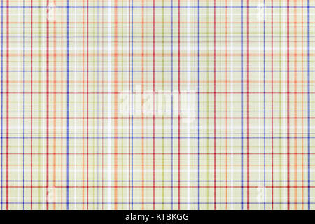 Close up of plaid pattern paper, texture background - Stock Photo