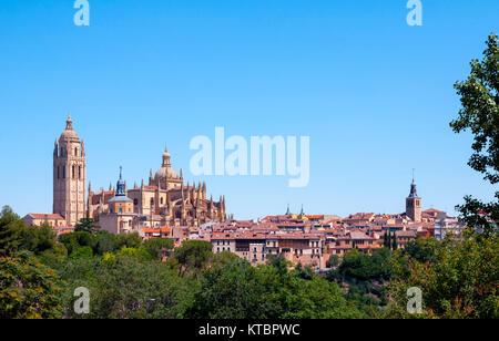 Catedral de Segovia. Castilla León. España. Ciudad patrimonio de la humanidad. Unesco. - Stock Photo