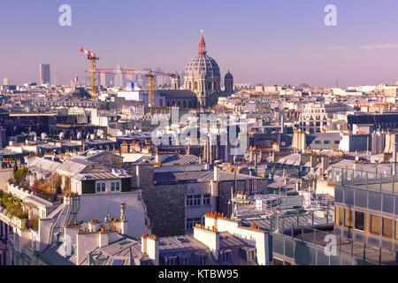 City rooftops Paris, France - Stock Photo