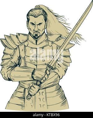 how to draw a katana blade