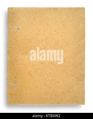 One sheet of old yellowed parchment paper - Stock Photo