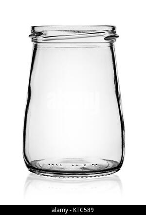Empty glass jar without cap - Stock Photo