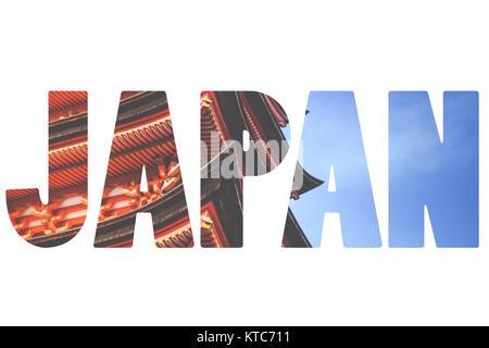 Word Japan Over Traditional Symbols Stock Photo 169913147 Alamy