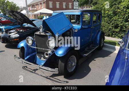 Auto- Graham Paige. Hot Rod. Blue. Car Show at Centerville-Washington Township Americana Festival. Centerville, - Stock Photo
