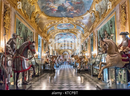The Royal Armoury in the Beaumont Gallery, Palazzo Reale,Turin, Piedmont, Italy - Stock Photo